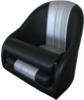 S011 series 1 bolster seat black and silver