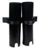 Tt02 black twin large tubes with double dive rack holder