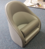Bolster seat series 2 tan and cream front