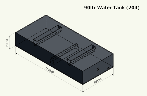 Water or Effluent Tank moulded up to 300 litres